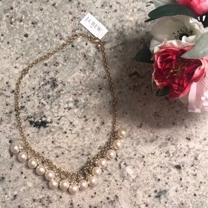 NWT J. Crew Pearl and crystal necklace